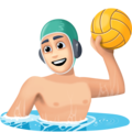 Man Playing Water Polo: Light Skin Tone on Facebook 3.0