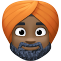 Man Wearing Turban: Dark Skin Tone on Facebook 3.0