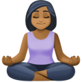 Person in Lotus Position: Medium-Dark Skin Tone on Facebook 3.0