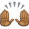 Raising Hands: Dark Skin Tone on Facebook 3.0