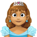 Princess: Medium Skin Tone on Facebook 3.0