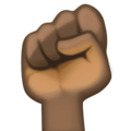 Raised Fist: Dark Skin Tone on Facebook 3.0
