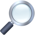 Magnifying Glass Tilted Right on Facebook 3.0