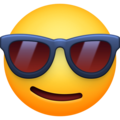 Smiling Face With Sunglasses on Facebook 3.0