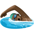 Person Swimming: Dark Skin Tone on Facebook 3.0