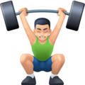 Person Lifting Weights: Light Skin Tone on Facebook 3.0