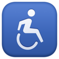 Wheelchair Symbol on Facebook 3.0