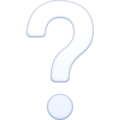 White Question Mark on Facebook 3.0
