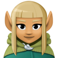 Woman Elf: Medium Skin Tone on Facebook 3.0