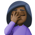 Woman Facepalming: Dark Skin Tone on Facebook 3.0
