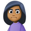 Woman Frowning: Medium-Dark Skin Tone on Facebook 3.0