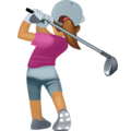 Woman Golfing: Medium Skin Tone on Facebook 3.0