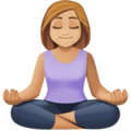 Woman in Lotus Position: Medium-Light Skin Tone on Facebook 3.0