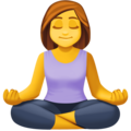 Woman in Lotus Position on Facebook 3.0