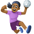 Woman Playing Handball: Medium-Dark Skin Tone on Facebook 3.0