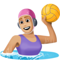 Woman Playing Water Polo: Medium-Light Skin Tone on Facebook 3.0