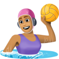 Woman Playing Water Polo: Medium Skin Tone on Facebook 3.0