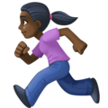 Woman Running: Dark Skin Tone on Facebook 3.0