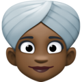 Woman Wearing Turban: Dark Skin Tone on Facebook 3.0