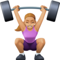 Woman Lifting Weights: Medium-Light Skin Tone on Facebook 3.0