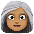 Woman: Medium-Dark Skin Tone, White Hair on Facebook 3.0