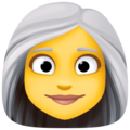Woman: White Hair on Facebook 3.0