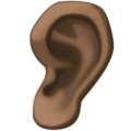 Ear: Dark Skin Tone on Facebook 3.1