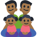 Family - Man: Medium-Dark Skin Tone, Man: Medium-Dark Skin Tone, Girl: Medium-Dark Skin Tone, Girl: Medium-Dark Skin Tone on Facebook 3.1