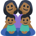 Family - Woman: Medium-Dark Skin Tone, Woman: Medium-Dark Skin Tone, Boy: Medium-Dark Skin Tone, Boy: Medium-Dark Skin Tone on Facebook 3.1