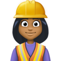 Woman Construction Worker: Medium-Dark Skin Tone on Facebook 3.1