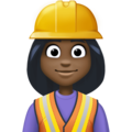 Woman Construction Worker: Dark Skin Tone on Facebook 3.1