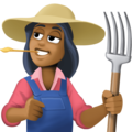 Woman Farmer: Medium-Dark Skin Tone on Facebook 3.1