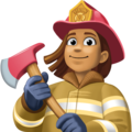 Woman Firefighter: Medium Skin Tone on Facebook 3.1