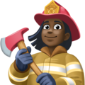 Woman Firefighter: Dark Skin Tone on Facebook 3.1