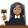 Woman Judge: Medium-Dark Skin Tone on Facebook 3.1