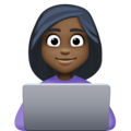 Woman Technologist: Dark Skin Tone on Facebook 3.1