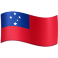 Flag: Samoa on Facebook 3.1