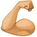 Flexed Biceps: Medium Skin Tone on Facebook 3.1