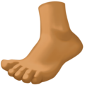 Foot: Medium-Dark Skin Tone on Facebook 3.1