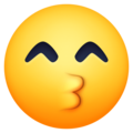 Kissing Face With Smiling Eyes on Facebook 3.1