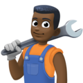 Man Mechanic: Dark Skin Tone on Facebook 3.1