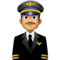 Man Pilot: Medium Skin Tone on Facebook 3.1