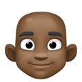 Man: Dark Skin Tone, Bald on Facebook 3.1