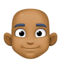 Man: Medium-Dark Skin Tone, Bald on Facebook 3.1
