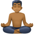Man in Lotus Position: Medium-Dark Skin Tone on Facebook 3.1