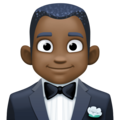 Man in Tuxedo: Dark Skin Tone on Facebook 3.1