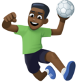 Man Playing Handball: Dark Skin Tone on Facebook 3.1