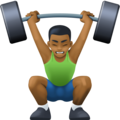 Man Lifting Weights: Medium-Dark Skin Tone on Facebook 3.1