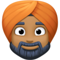 Person Wearing Turban: Medium-Dark Skin Tone on Facebook 3.1