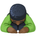 Person Bowing: Dark Skin Tone on Facebook 3.1